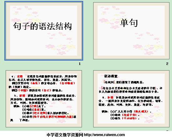 句子的语法结构 课件截图